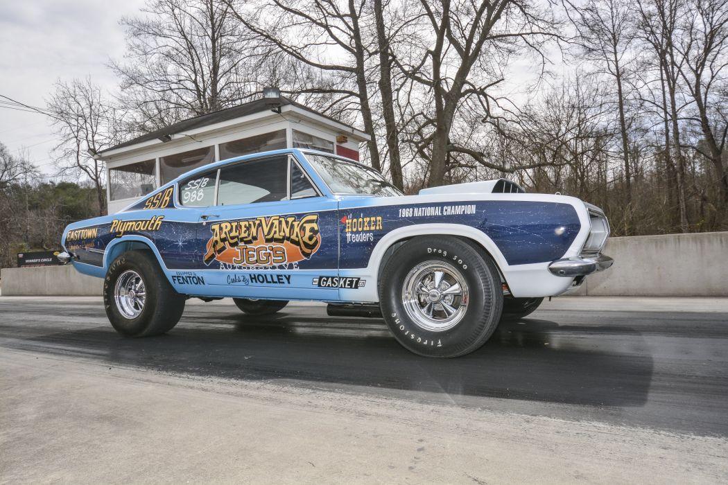 1968 Plymouth Barracuda Super Stock Drag Dragster Race USA 6000x4000-04 wallpaper