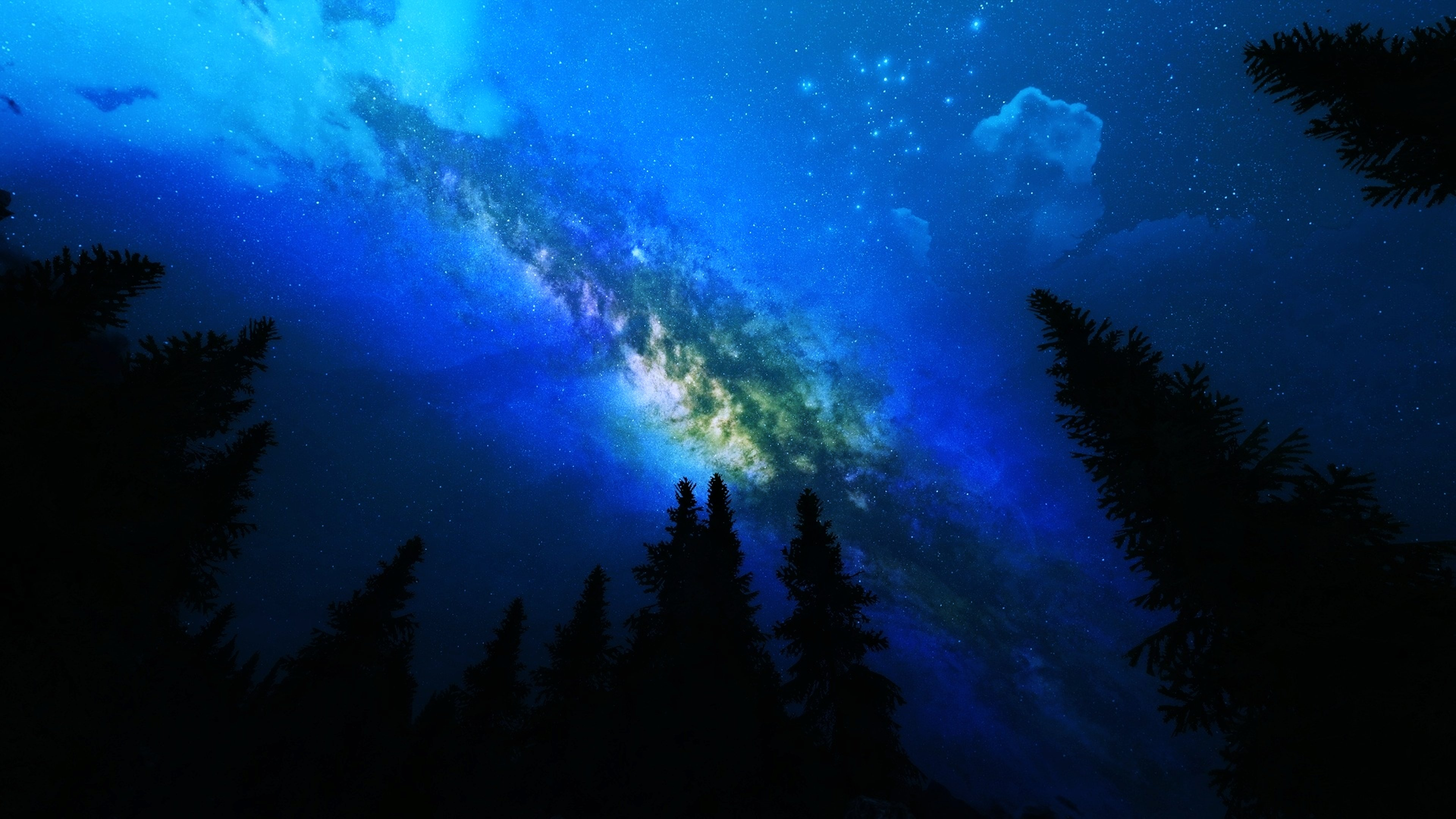 Galaxy Stars Nature Trees Background (page 3) - Pics about ...