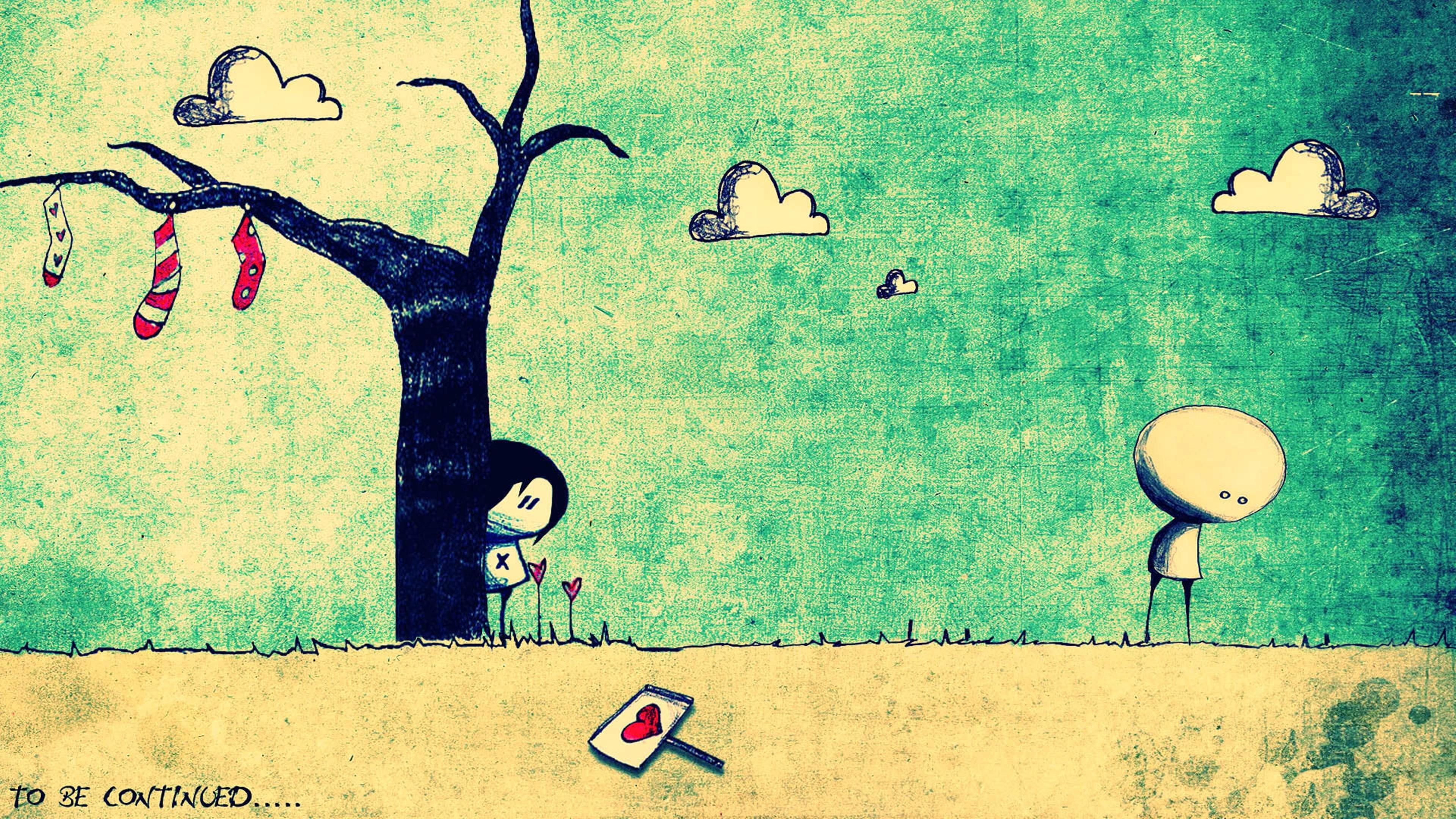 Drawing design story love sad art emotions lovers wallpaper 3840x2160 662832 WallpaperUP