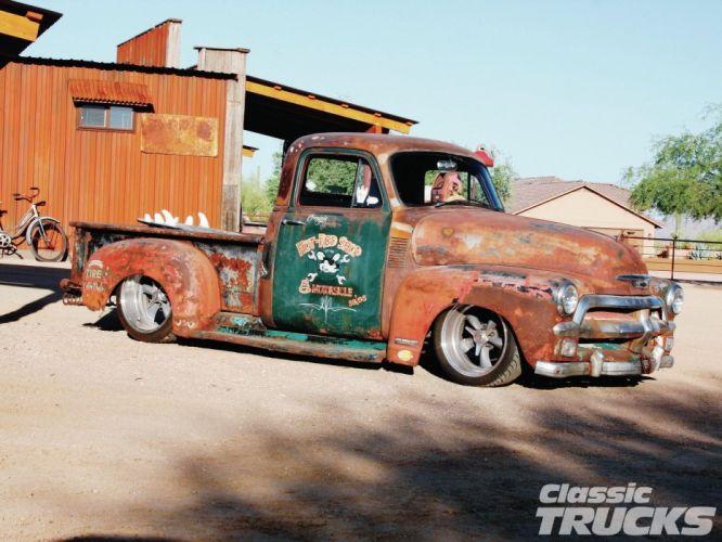 1954 Chevrolet 3100 Hotrod Streetrod Hot Rod Street Rat USA 1600x1200-12 wallpaper