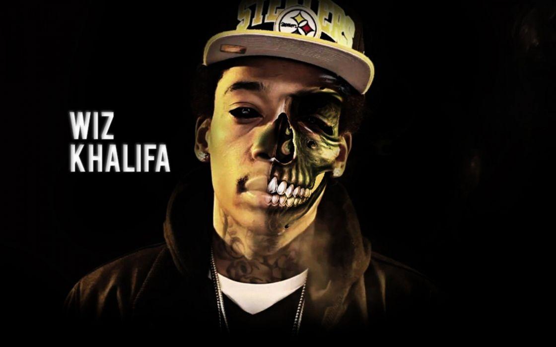 WIZ KHALIFA rap rapper hip hop gangsta 1wizk weed drugs marijuana 420 wallpaper