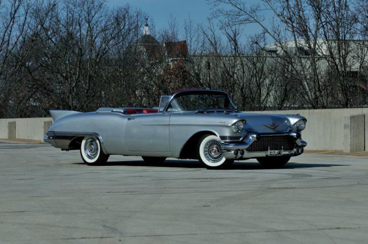 1957 Cadillac Eldorado Biarritz Convertible Classic Old Retro Vintage USA 4288x2848-05 wallpaper