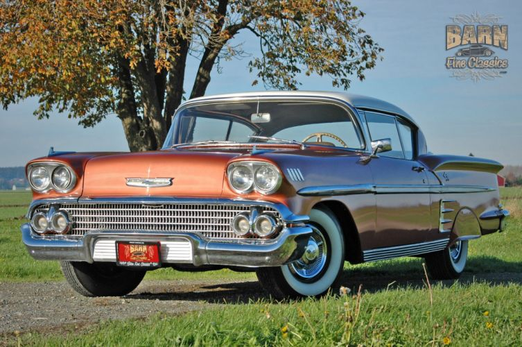 1958 Chevrolet Impala Coupe Hardtop Classic Old USA 2240x1488-13 wallpaper