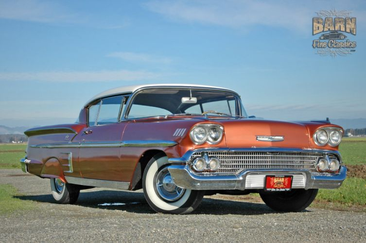 1958 Chevrolet Impala Coupe Hardtop Classic Old USA 2240x1488-15 wallpaper