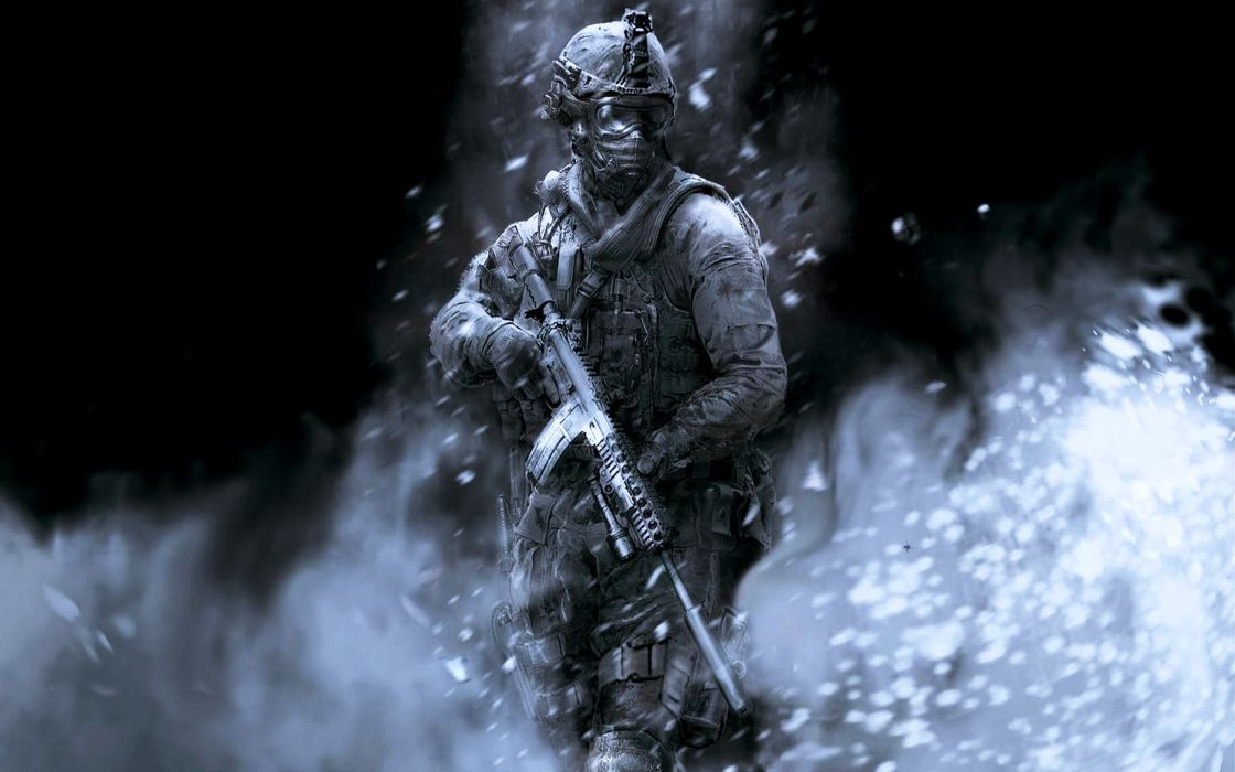 Call Of Duty Ghost Fighter gangs guns Military soldier struggle games wallpaper