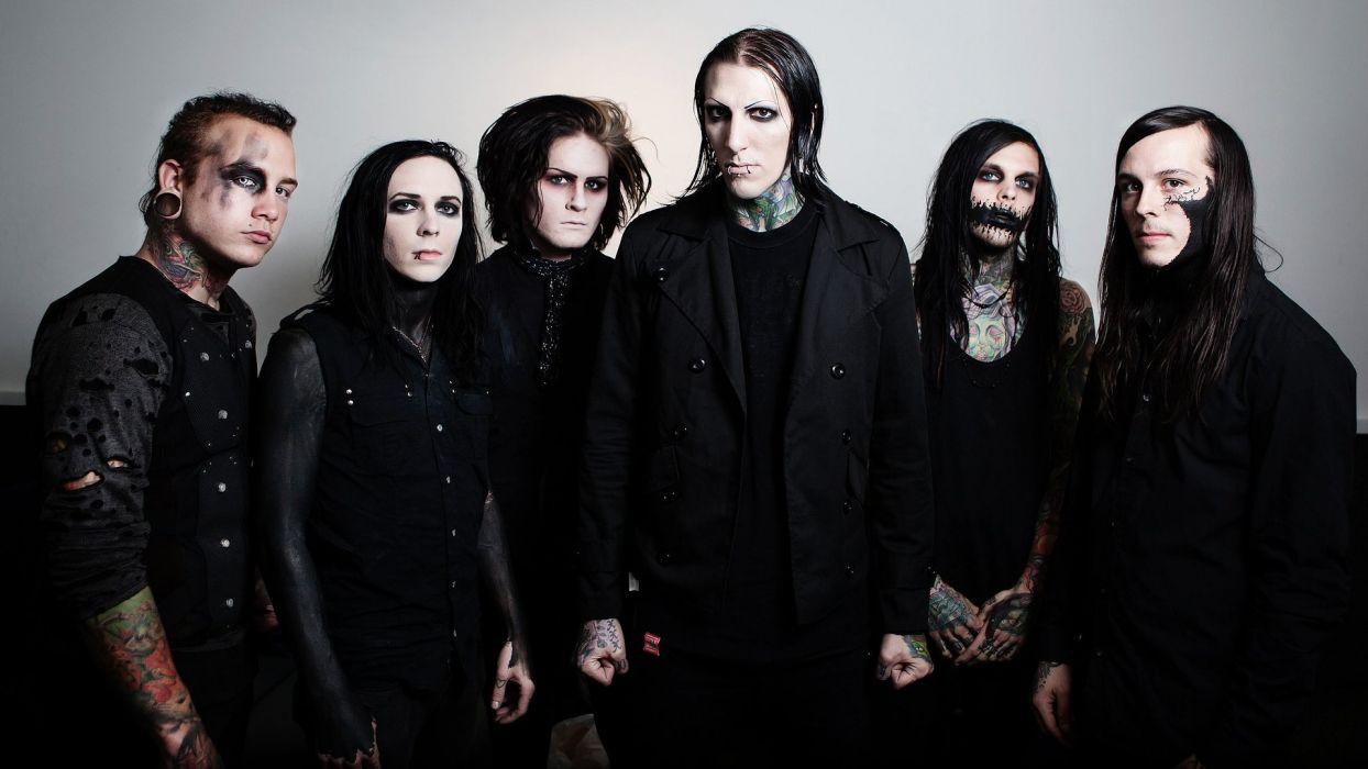 MOTIONLESS In WHITE metalcore heavy metal hard rock 1miw industrial gothic dark wallpaper