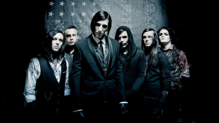 MOTIONLESS In WHITE metalcore heavy metal hard rock 1miw industrial gothic dark wallpaper