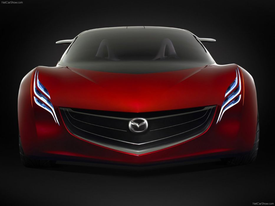 art cars Concept Mazda red ryuga vehicles 2007 wallpaper