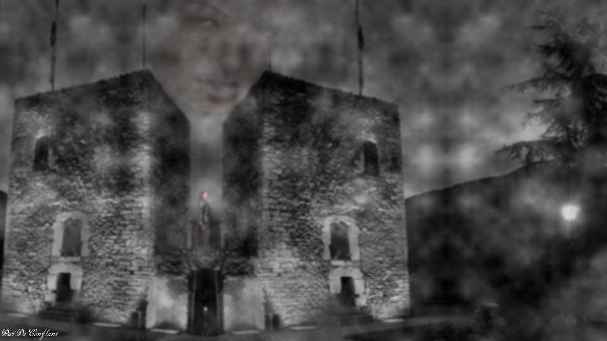 Apparition Fantastic Sarrazine towers Medieval Conflans 2 wallpaper