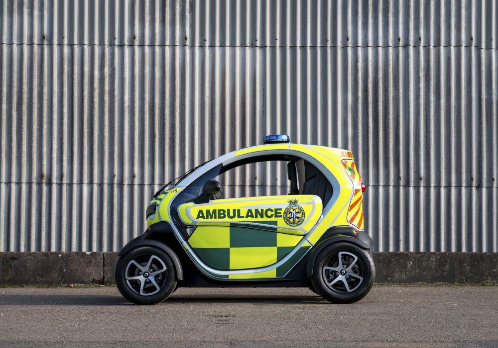Renault Twizy Z E Cargo Ambulance emergency electric 2015 wallpaper
