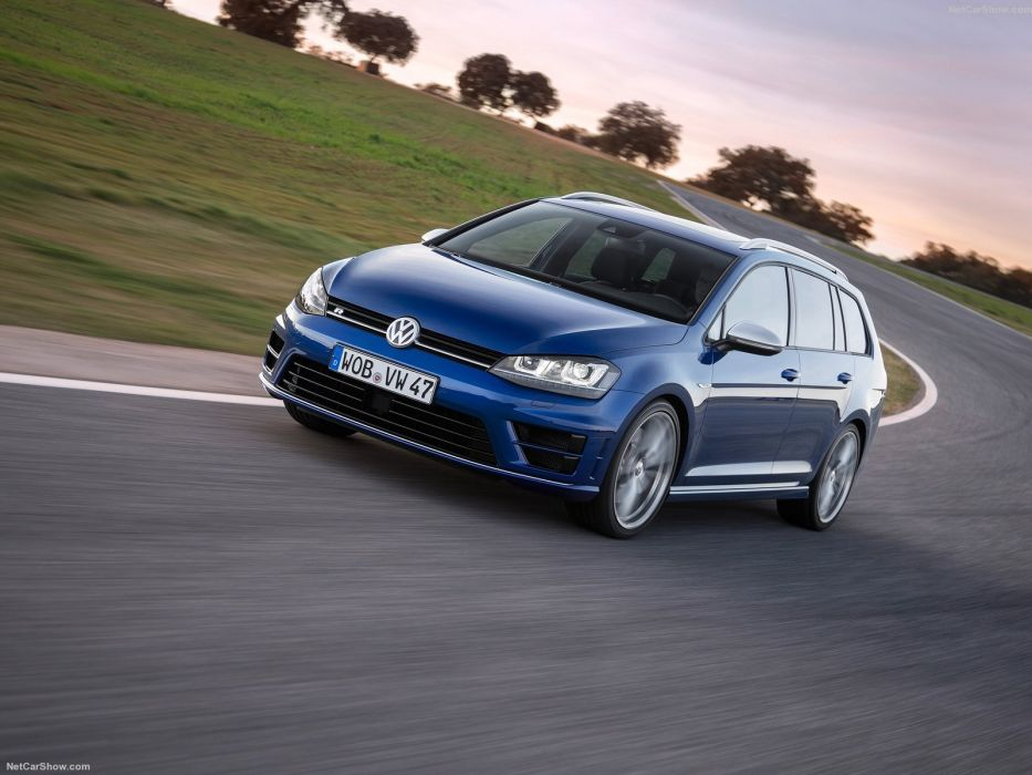 2015 cars Golf-R variant volkswagen wagon wallpaper