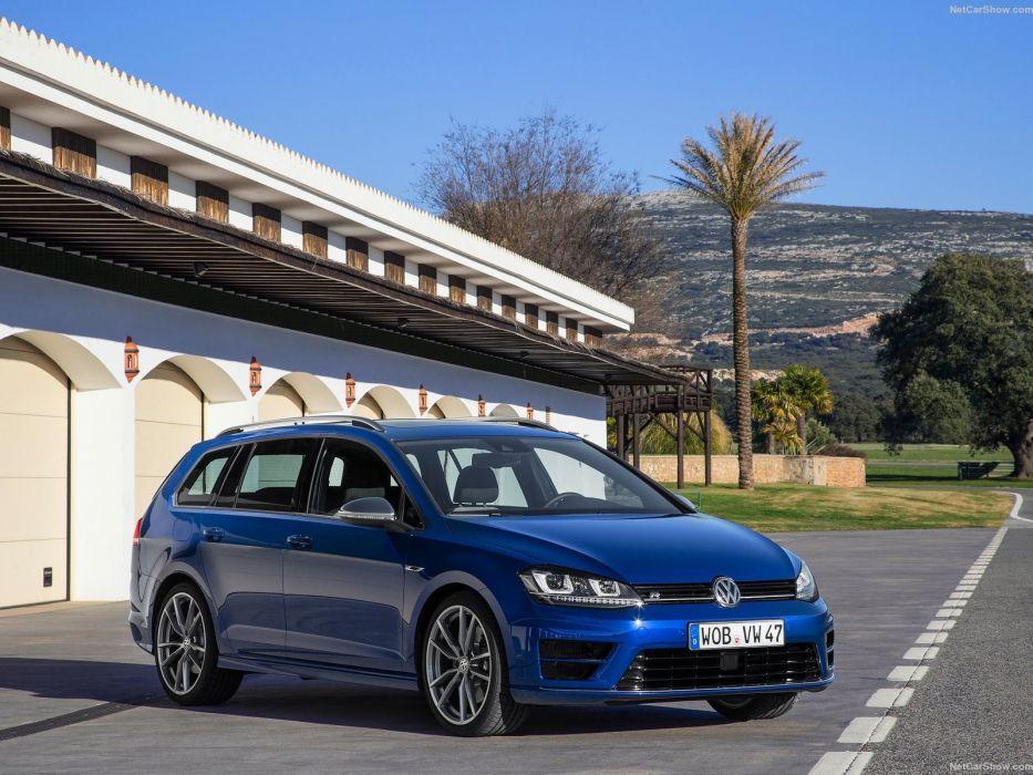 2015 cars Golf-R variant volkswagen wagon wallpaper