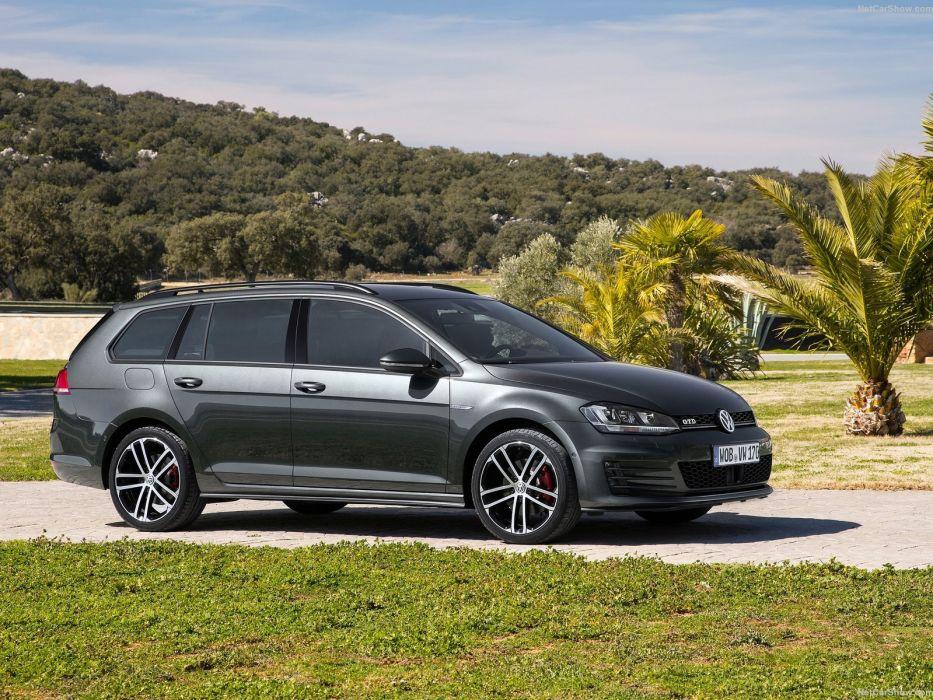 Volkswagen Golf GTD Variant cars diesel wagon 2015 wallpaper