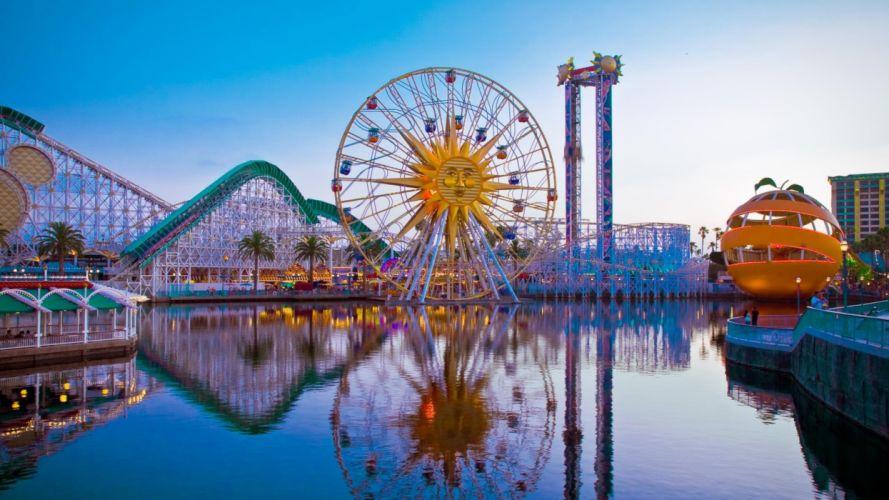 roller coaster amusement park fun rides 1roll adventure summer people disneylamd wallpaper