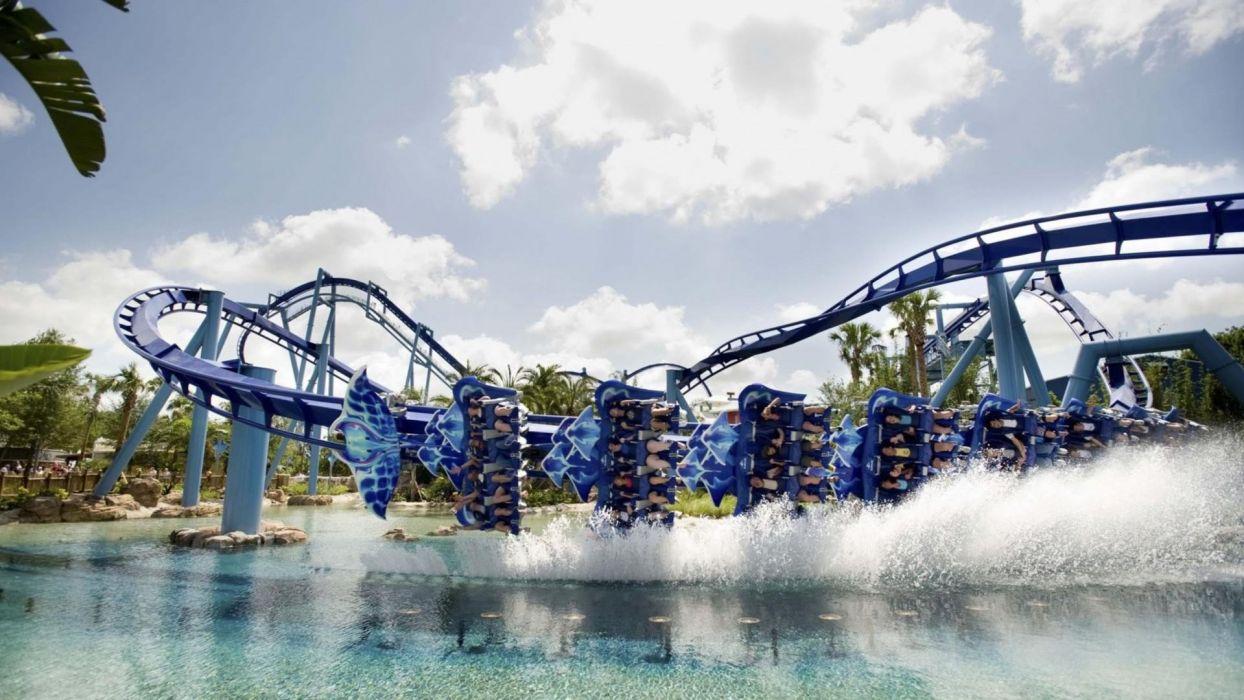 roller coaster amusement park fun rides 1roll adventure summer people wallpaper