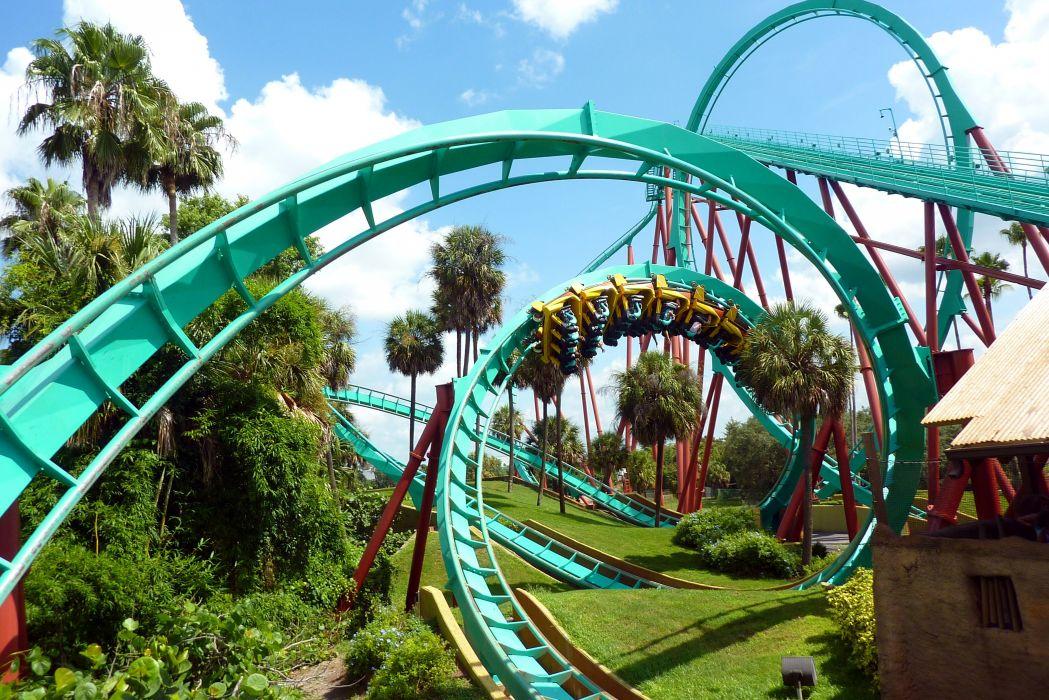 roller coaster amusement park fun rides 1roll adventure summer wallpaper