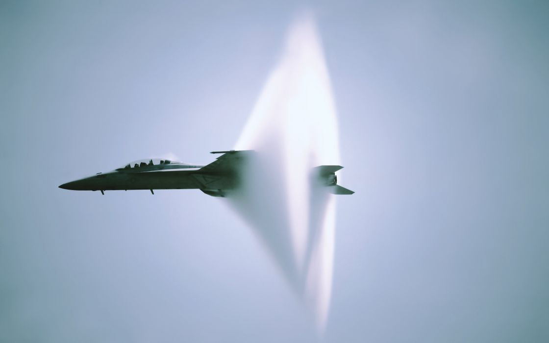 FA-18 Super Hornet sound barrier plane aircrafts sky fighter wallpaper