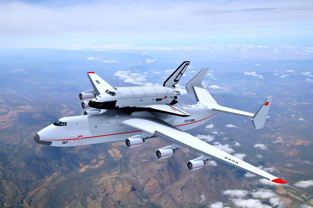 sky clouds earth shuttle planes aircrafts landscapes nature wallpaper