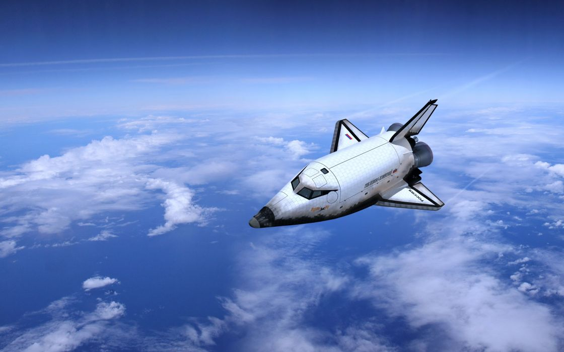 sky clouds earth shuttle planes aircrafts landscapes nature sea russia wallpaper