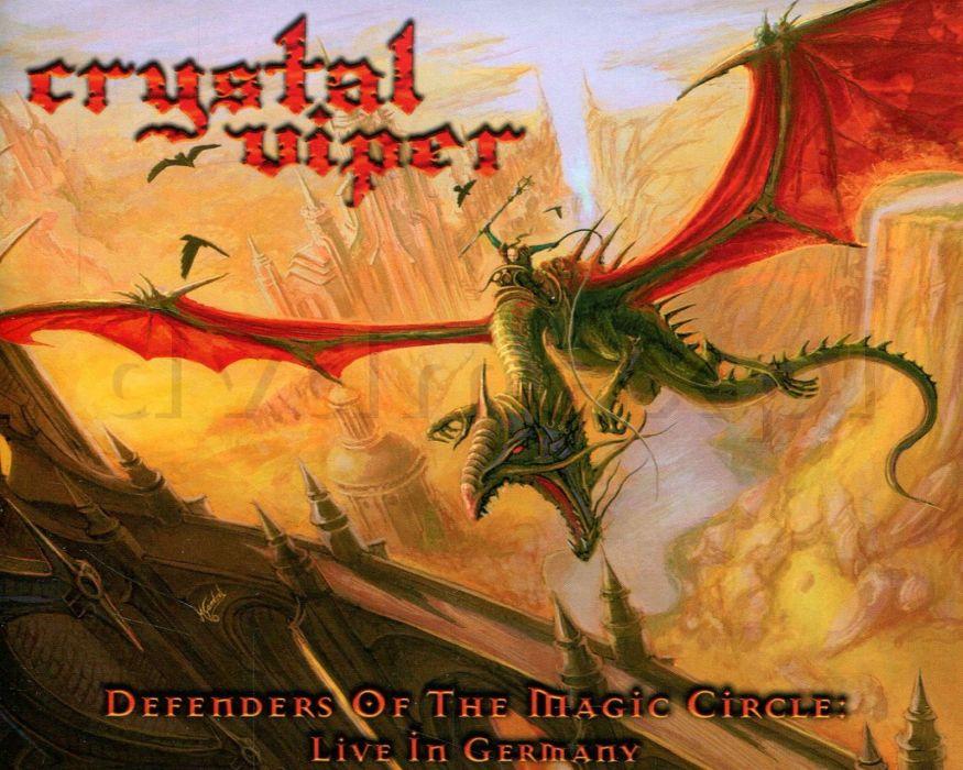 CRYSTAL VIPER power metal heavy 1cviper fantasy warrior dragon poster wallpaper