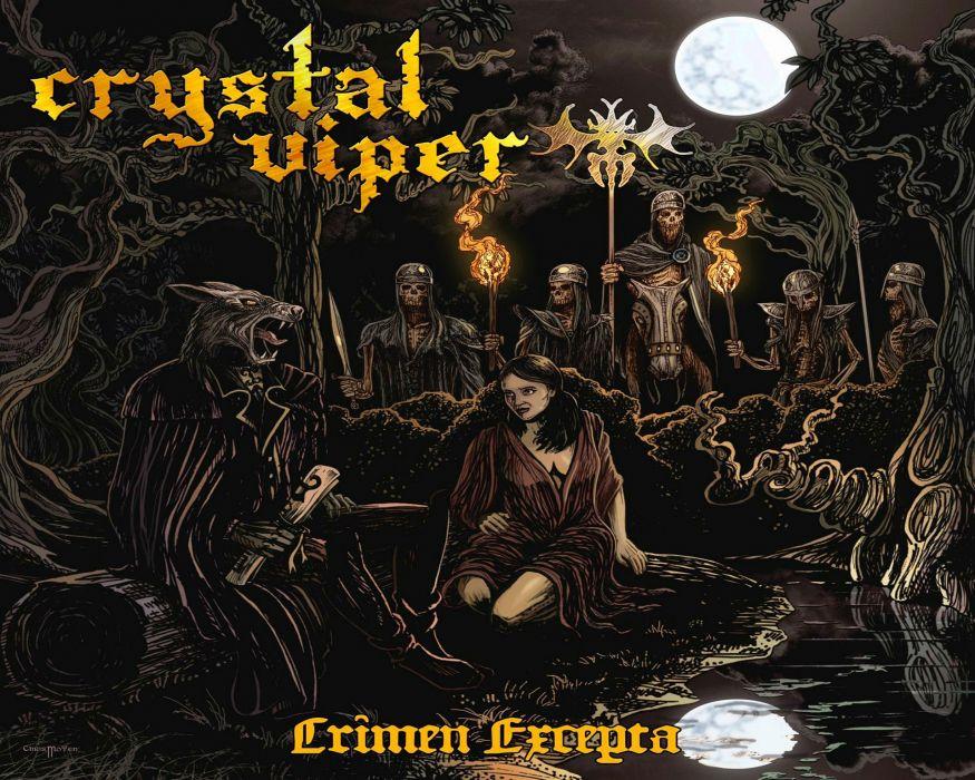 CRYSTAL VIPER power metal heavy 1cviper dark skull artwork reaper evil poster wallpaper