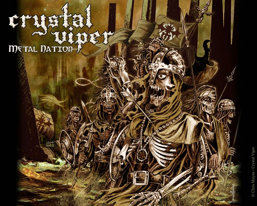 CRYSTAL VIPER power metal heavy 1cviper poster dark evil skull reaper wallpaper