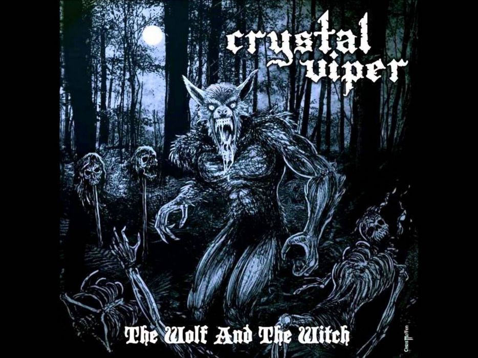 CRYSTAL VIPER power metal heavy 1cviper skull poster dark werewolf wolf wallpaper