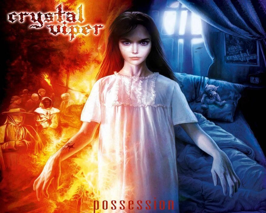 CRYSTAL VIPER power metal heavy 1cviper gothic dark girl poster wallpaper