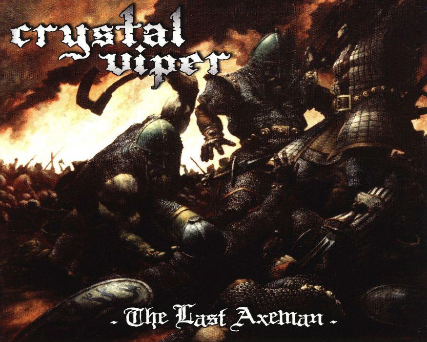 CRYSTAL VIPER power metal heavy 1cviper demon dark warrior battle poster wallpaper