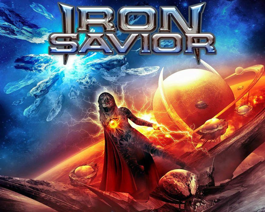 IRON SAVIOR power metal heavy 1irons poster sci-fi spaceship space dark sci-fi reaper poster wallpaper