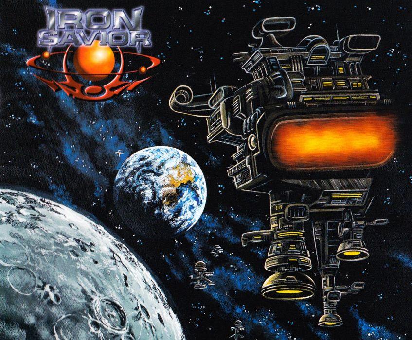 IRON SAVIOR power metal heavy 1irons poster sci-fi spaceship space wallpaper