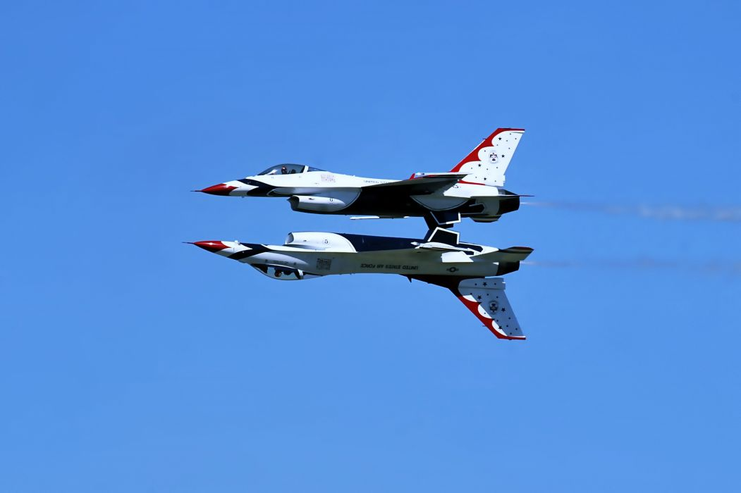 thunderbirds aircrafts Earth fighters landscapes nature planes sky Tow Wars Review wallpaper