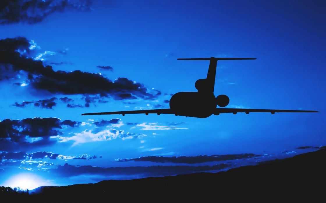 aircrafts Earth planes flights sky blue sunset clouds landscapes travel wallpaper