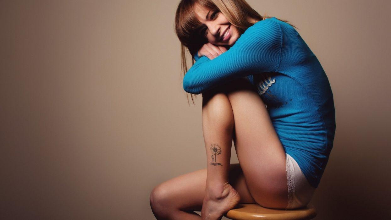 SENSUALITY - pretty girl blonde legs foot tattoo grace charm wallpaper