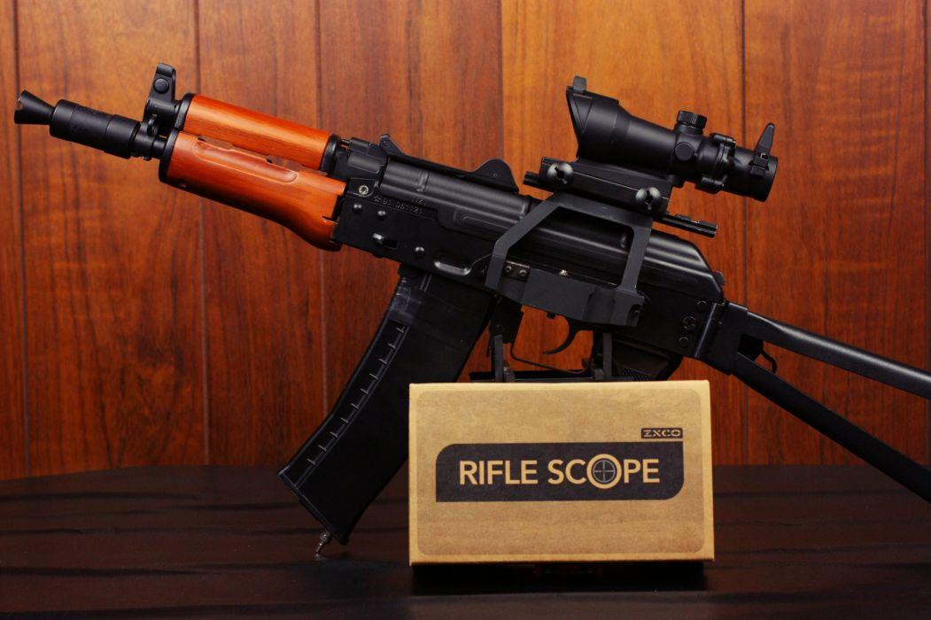 AKS74U automatic rifles shortened modification weapon gun police army military wallpaper
