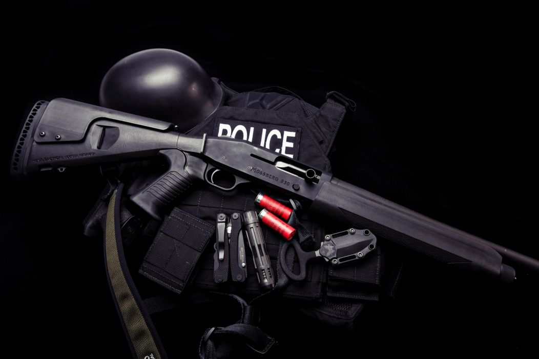 Mossberg 930 pump gun gear weapons police army military knife uniform Ammunition wallpaper