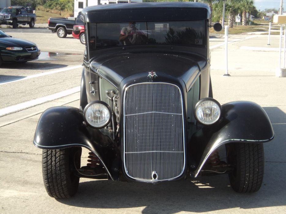 1932 Ford Pickup Hotrod Hot Rod Custom Old School Blach Primer USA 2592x1944-05 wallpaper