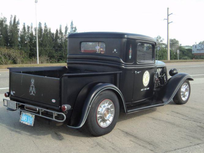 1932 Ford Pickup Hotrod Hot Rod Custom Old School Blach Primer USA 2592x1944-02 wallpaper