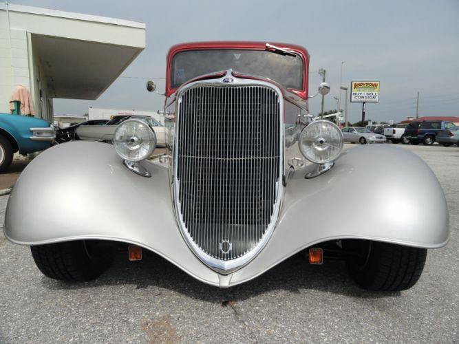 1933 Ford Tudor Sedan Two Door Hotrod Hot Rod Custom USA 2592x1944-02 wallpaper