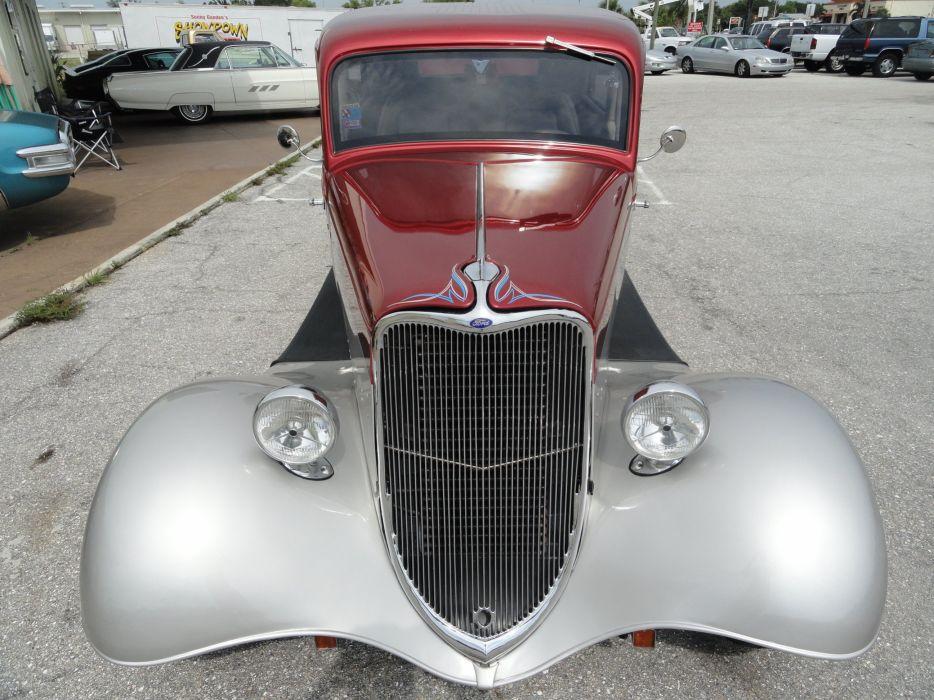 1933 Ford Tudor Sedan Two Door Hotrod Hot Rod Custom USA 2592x1944-03 wallpaper