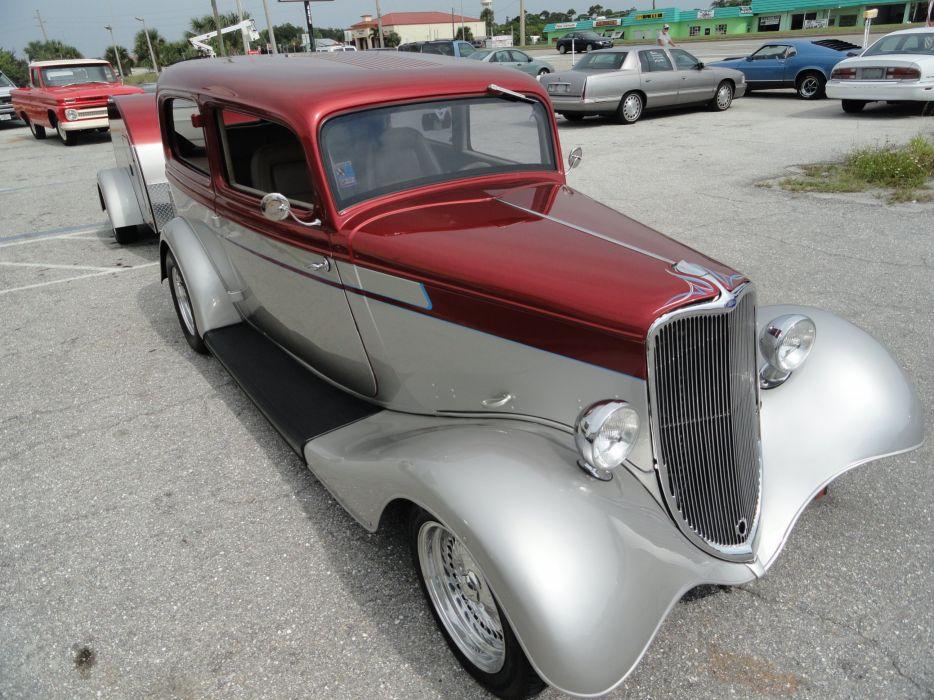 1933 Ford Tudor Sedan Two Door Hotrod Hot Rod Custom USA 2592x1944-05 wallpaper