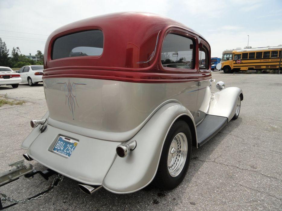 1933 Ford Tudor Sedan Two Door Hotrod Hot Rod Custom USA 2592x1944-07 wallpaper