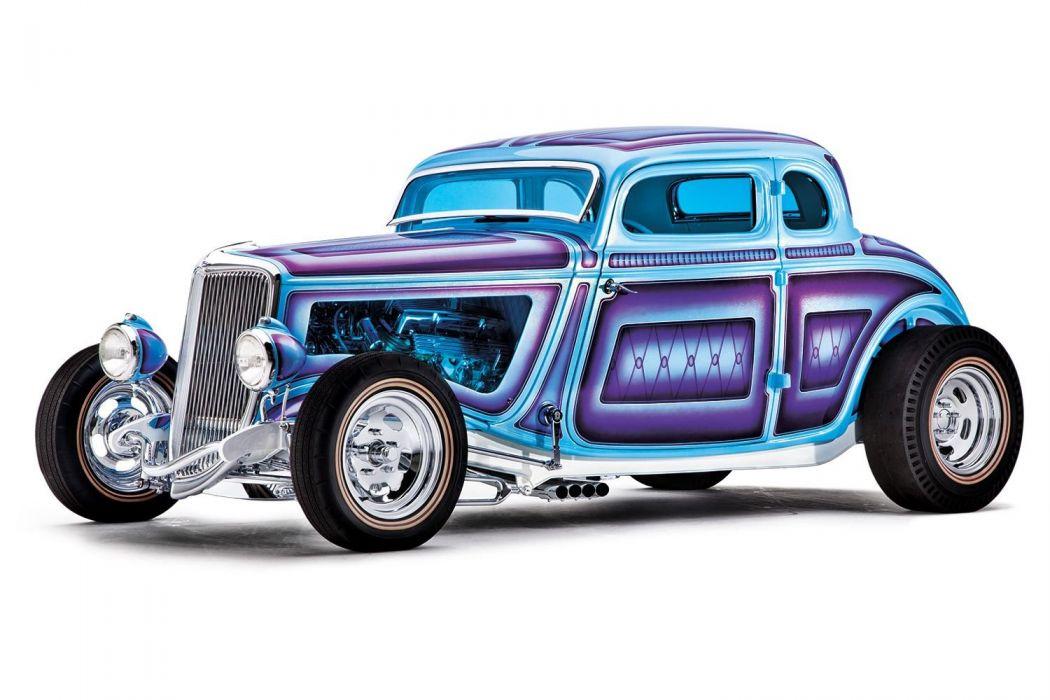 1934 Ford Coupe 5 Window five window Hotrod Street Rod Hot Rod Old School Blue USA 1500x1000-01 wallpaper