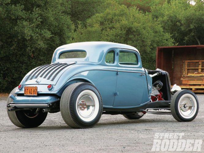 1934 Ford Coupe 5 Window five window Hotrod Street Rod Hot Rod Old School Blue USA 1600x1200-07 wallpaper