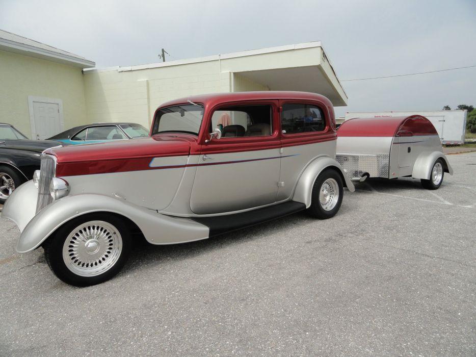 1933 Ford Tudor Sedan Two Door Hotrod Hot Rod Custom USA 2592x1944-11 wallpaper