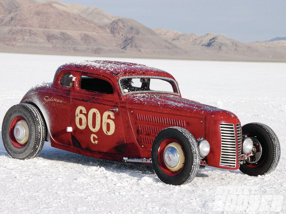 1934 Ford Coupe 5 Window Salt Lake Race Grille Hotrod Hot Rod USA 1600x1200-02 wallpaper