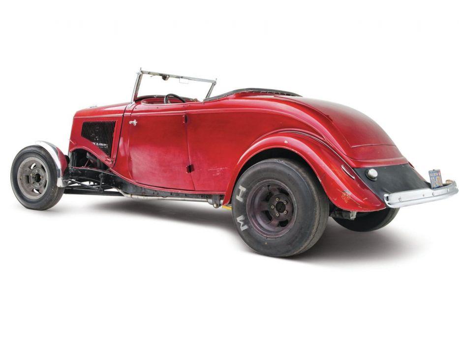 1934 Ford Roadster Hotrod Street Rod Hot Rod Old School Custom Red USA 1600x1200-04 wallpaper