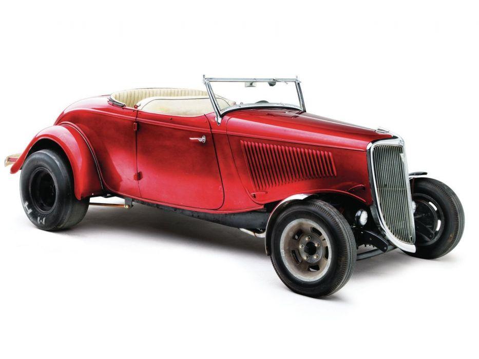 1934 Ford Roadster Hotrod Street Rod Hot Rod Old School Custom Red USA 1600x1200-03 wallpaper