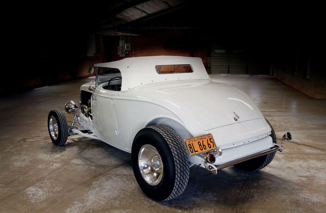 1934 Ford Roadster Hotrod Street Rod Hot Rod Old School Custom White USA 1600x1200-02 wallpaper