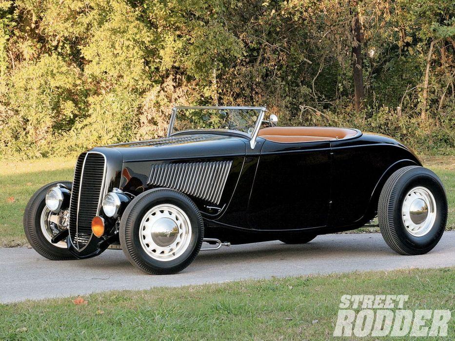 1934 Ford Roadster Hotrod Street Rod Hot Rod Old School Custom Black ...